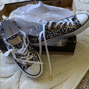 Converse animal print shoes